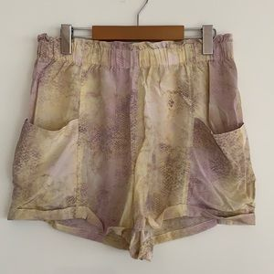 Wilfred 100% Silk Paperbag Loose Shorts Pastel SzL